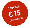 Word 6 maanden lid voor maar € 15 per maand!